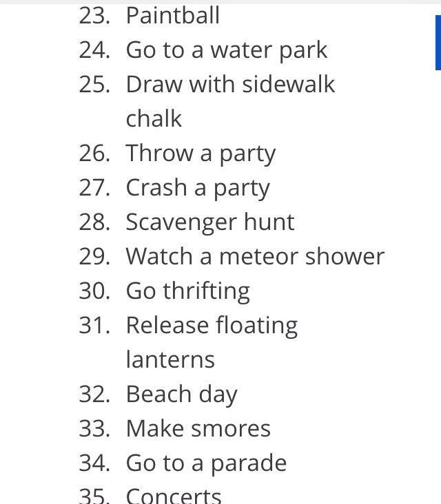 Summer Bucket List Ideas By Rachael Gunderson Musely