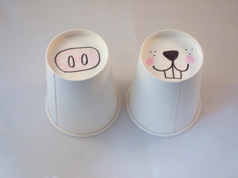 Use colored sharpies on white mug!