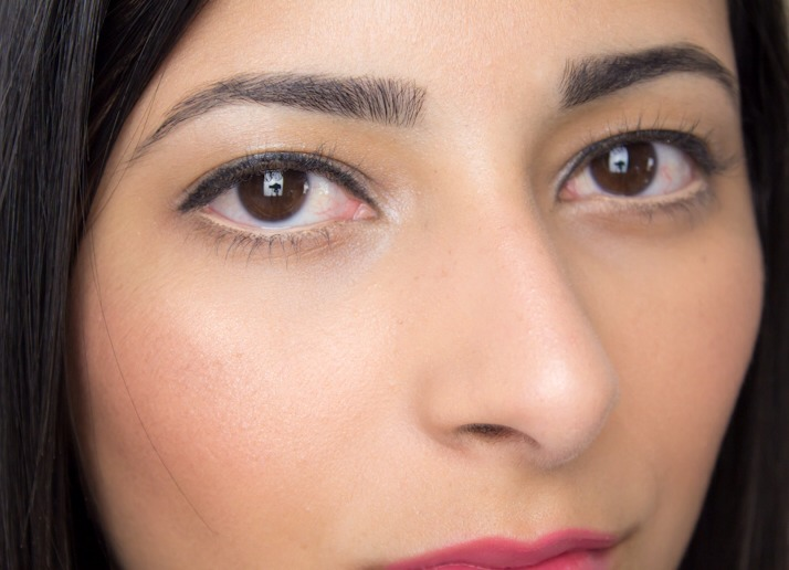 Nude eyeliner will look more natural than white eyeliner. White eyeliner makes it more obvious that you're trying to make your eyes looks bigger, but nude eyeliner will hide the fact that you are.
