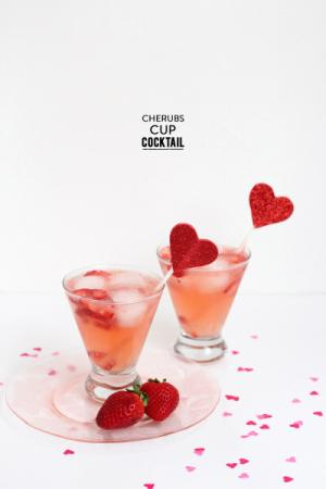 Strawberries and Valentine's Day can live happily ever after thanks to Leah Bergman of Freutcake.  The fabulous mixologist shows us how to create the Cherub's Cup, a sweet sip that is sure to melt your heart!