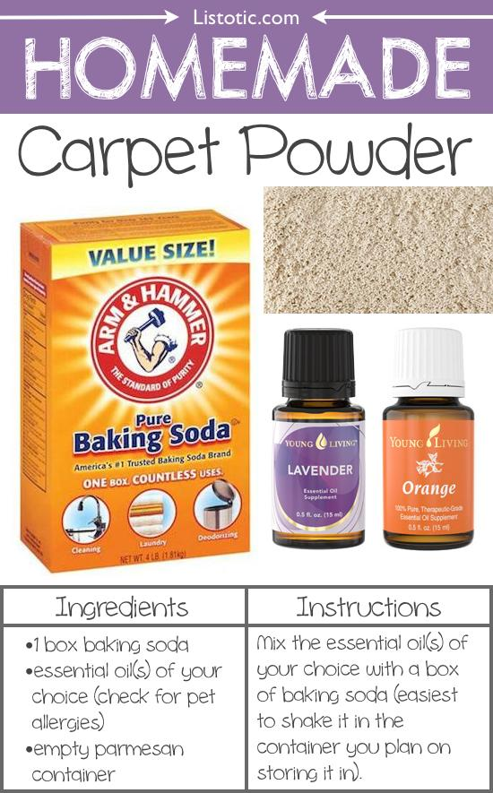 10. Homemade Carpet Powder