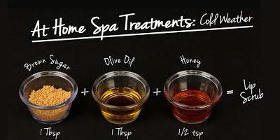 Brown sugar + olive oil+ honey = lip scrub