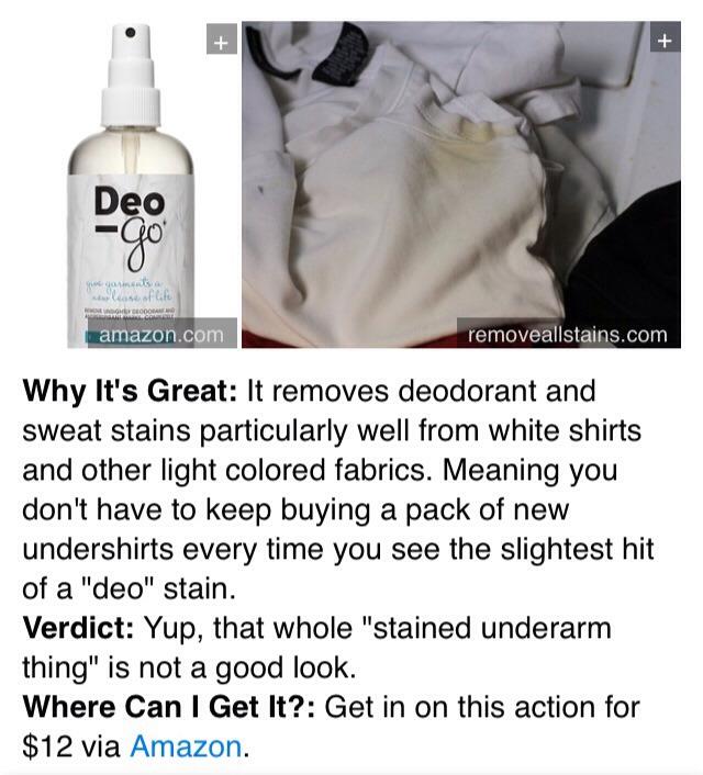 9. Deo-Go Deodorant & Antiperspirant Stain Remover