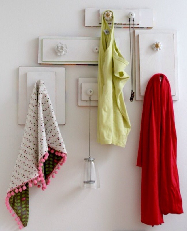Dresser fronts into towel hangers
