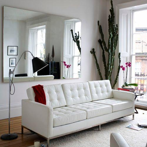 Fake more space with mirrors Mirrors are the quickest way to make a room appear larger. Place at least two big mirrors in the room of choice, and position them opposite windows and open spaces. This will reflect light and give the illusion that the room stretches out more.