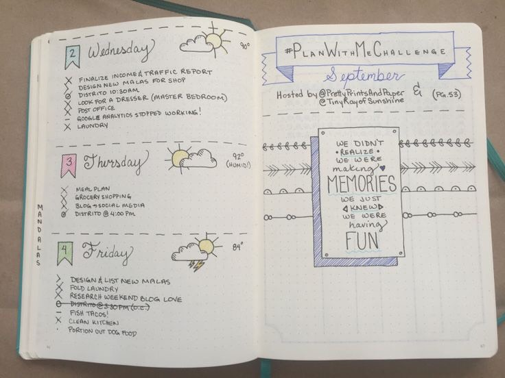 This gorgeously artistic, but also cute and simple page. Pretty sure this is from the same bullet journal as the previous one.
