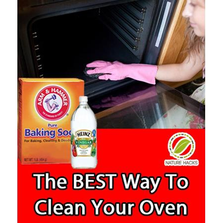 1/2 cup liquid soap, 1 1/2 cup baking soda, 1/4 cup white vinegar, Water. Combine ingredients with just enough water to create a paintable paste. Remove all racks from your oven. Take a small brush, such as a basting brush or pastry brush, and cover the inside of your oven with the paste.