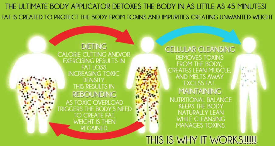 HOW: The wrap is a detox! When you diet/work out, it results in fat loss. When you lose fat, it gives more room for toxins. Toxins can cause fat cells to swell, or cause the body to create more fat, resulting in rebound. The cream in the wrap helps to shrink enlarged cells to a healthy size!