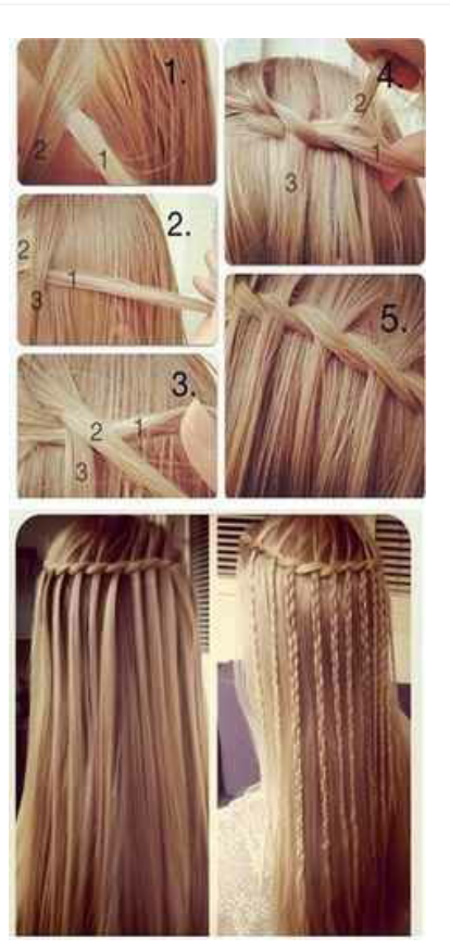 How to do the water fall braid step by step!!