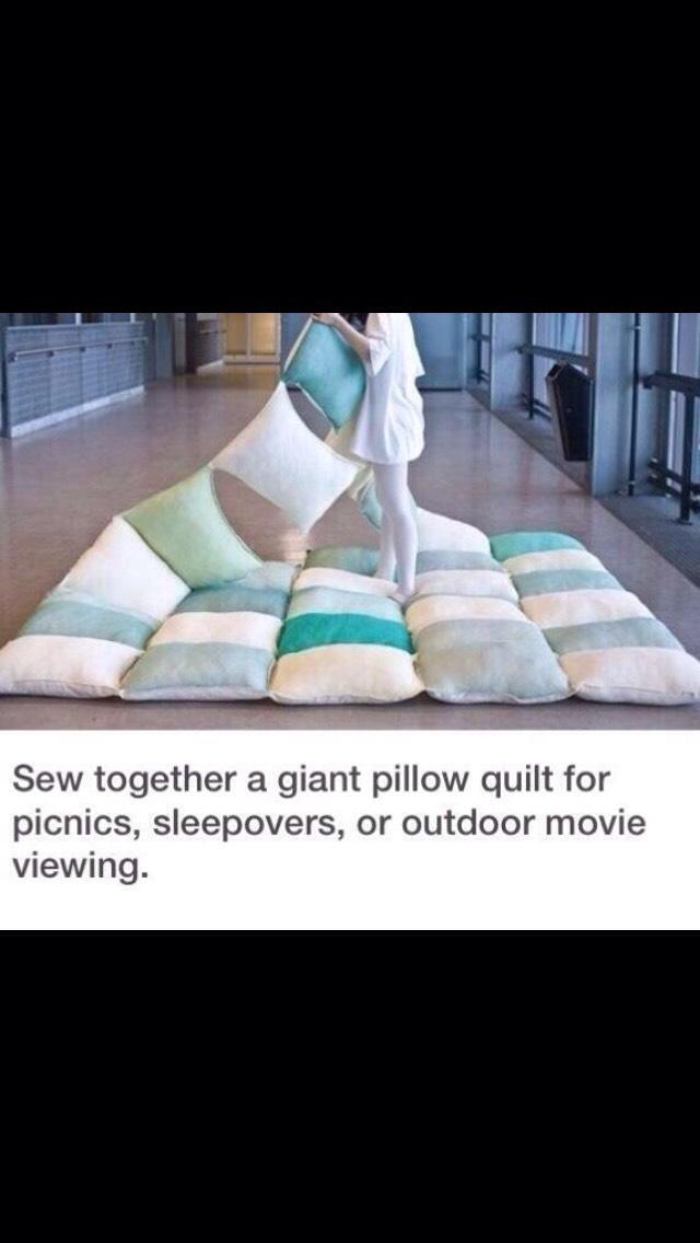 Pillow quilt!