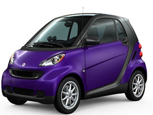 My car...only it's lighter, more like lavender, and the Tridion is Silver instead of Black. I L♡VE my little Smart!!