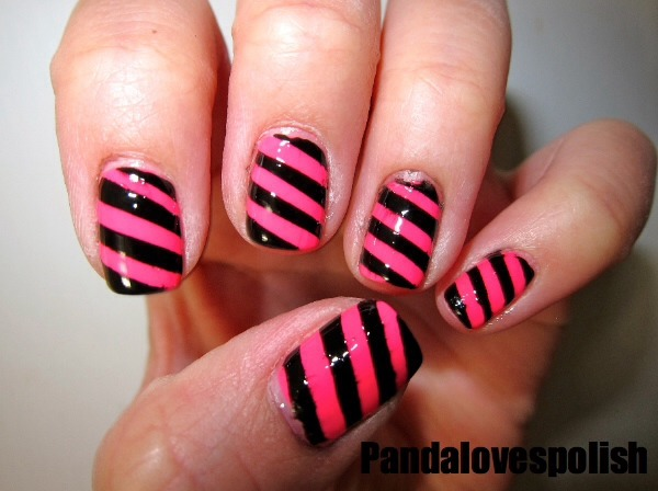 Stripy nails give a different look