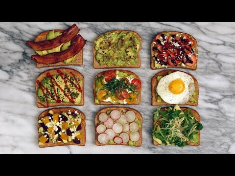 Toast with avocado is definitely delicious! My favorites are avocado and eggs or avocado and tomatoes!