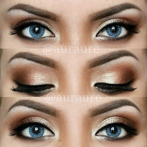 A smokey eye with blue eyes looks gorgeous as u can see.