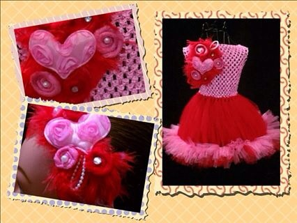 Valentines tutu dress with headband