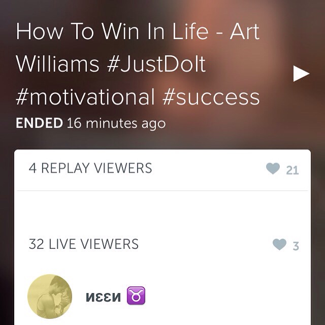 "Simple and easy. Whatever it is you want to do ""JUST DO IT"" seriously make the decision just do whatever it takes. All successful people got to where they are because THEY JUST DID IT.  Link to Periscope replay: https://www.periscope.tv/w/aGtScjI4Mjc4MTN8MzUyMzM0MDLEKeP5haCYuxNNfPoqa4STbvuPsWl4H3IY-"