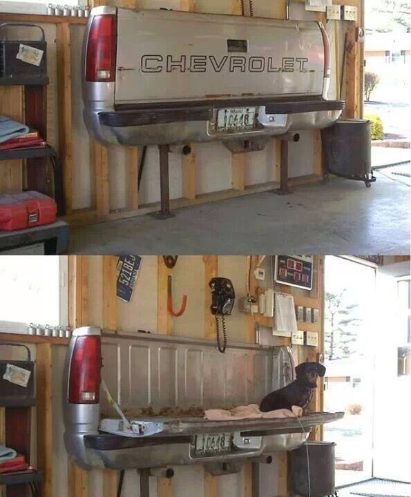 Use an old tailgate as a workbench in a garage. Any make will work. I prefer a Ford!  :)