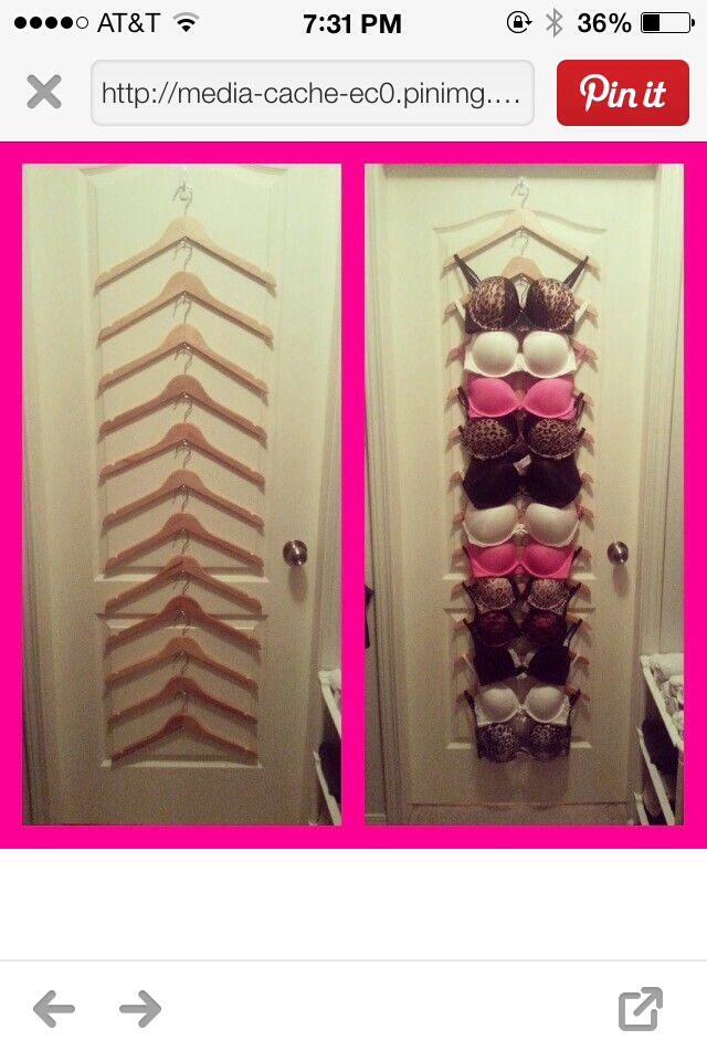 All You Need Is A Hook For The Door And Hangers. I Love This Idea😃