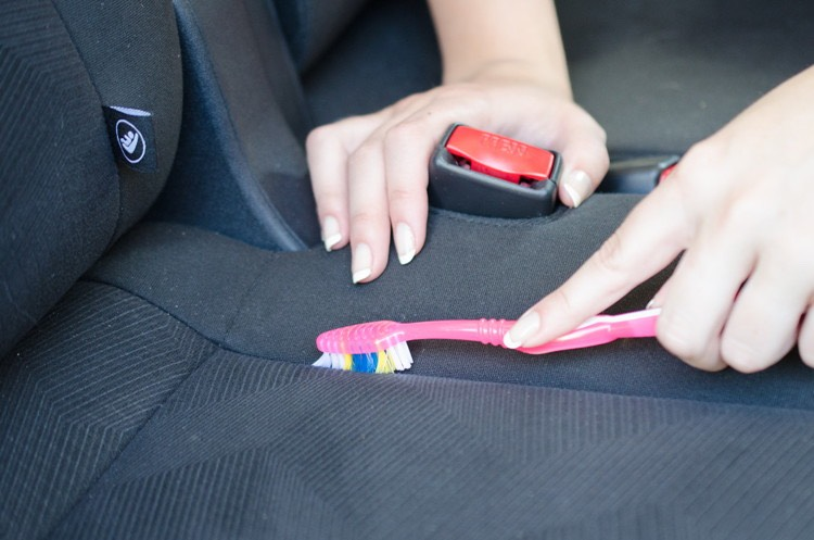 12.Brush dirt and grime out of the seams of your seats with a toothbrush.