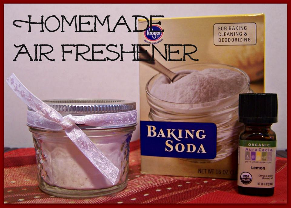 You can use an 8 oz canning jar, put the baking soda in it, and then I put between 50-100 drops of essential oil. You can either add a lid, or not!