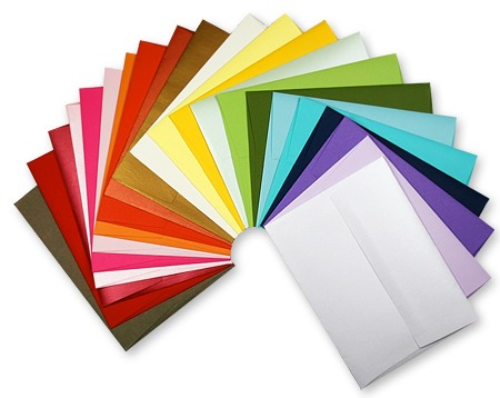 Begin with the number of envelopes you plan on using. Choose different colors, designs, or ones with words/lettering on the front. Whatever you prefer. If you go into Hallmark stores and ask for just envelopes they tend to let you look through a selection of unwanted envelopes & let you take them.