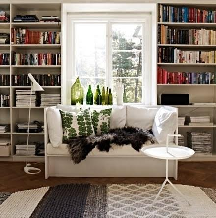 Leave your windows uncovered to give a room more depth.