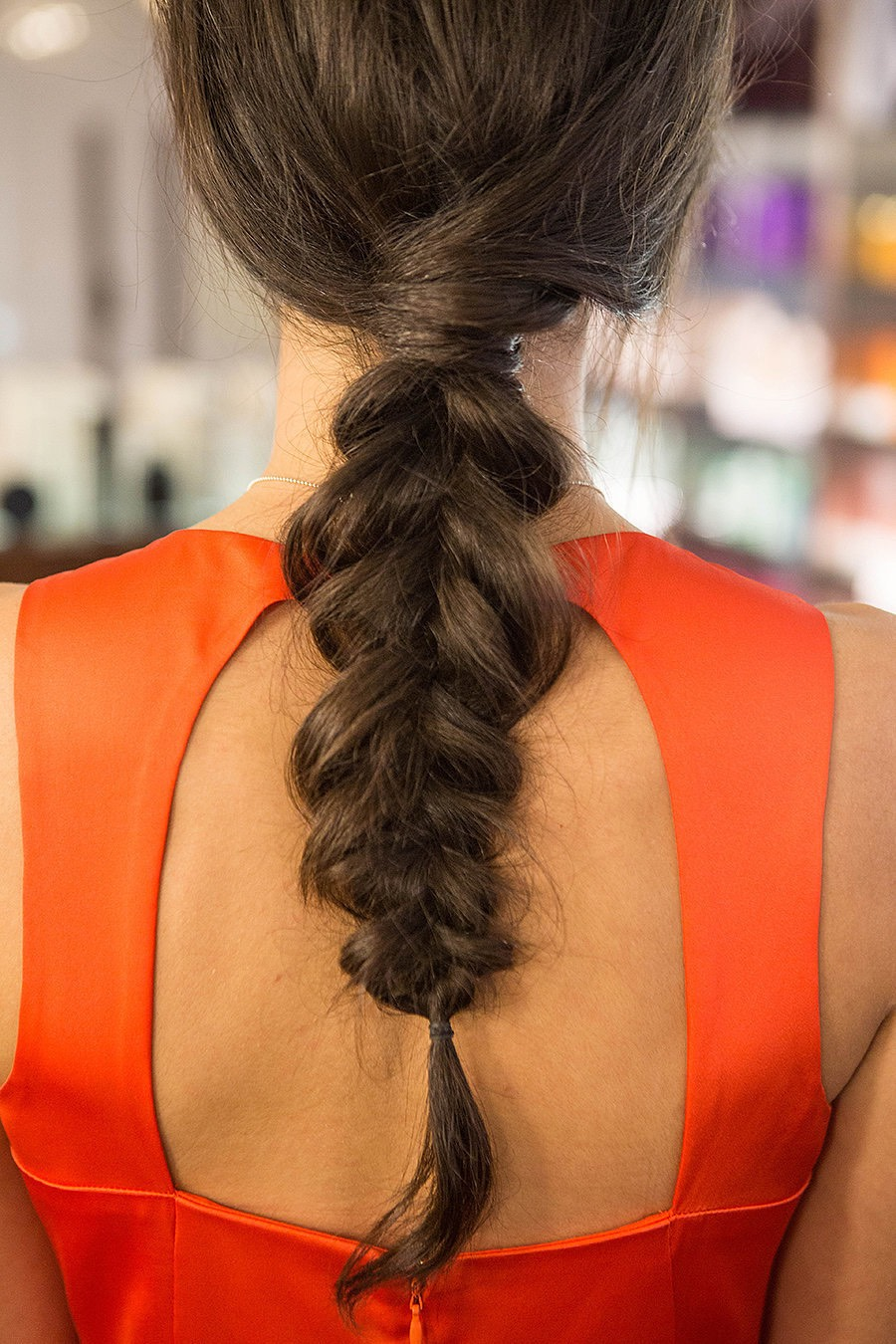 Inside-Out Braid The inside-out braid is a cross between a typical three-strand plait and a dutch braid. By folding hair outward, the braid is much more open and easy to stretch. This technique is easy to master, and it's the key to achieving all those messy braided styles you admire.