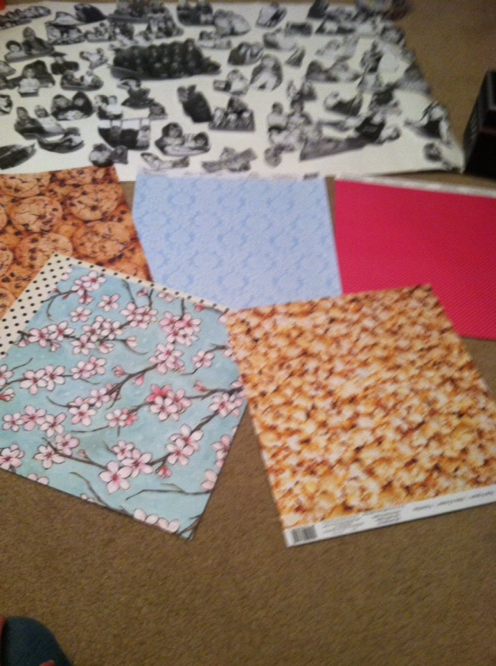 (Optional) you will also need scrapbook paper. I choose a few of my favorite designs.