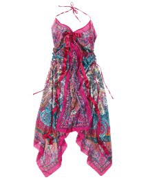 Your going to see a lot of girls wearing  print dress that have a pop of color