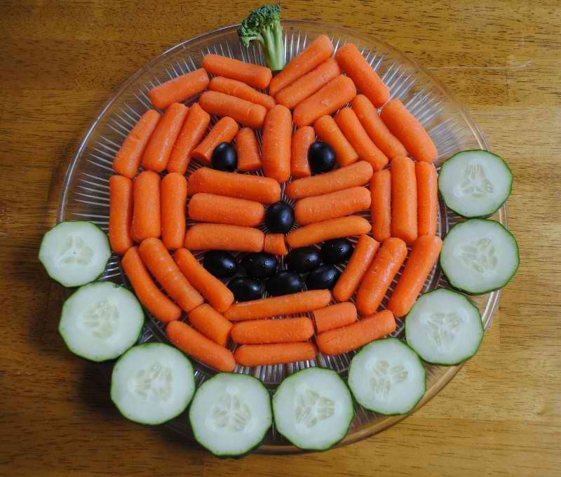Carrots, cucumbers,  and grapes!