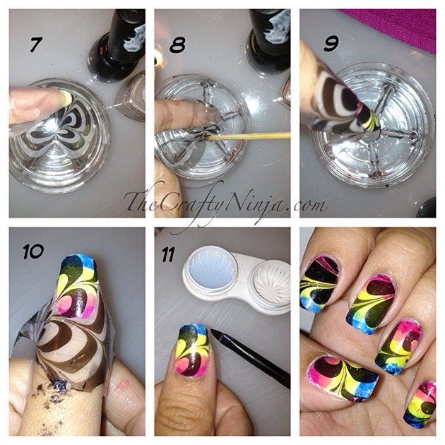 Easy spiral nails