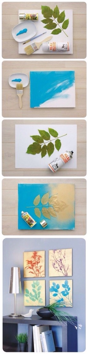 DIY project using a canvas, spray paint, and stencil of choice!