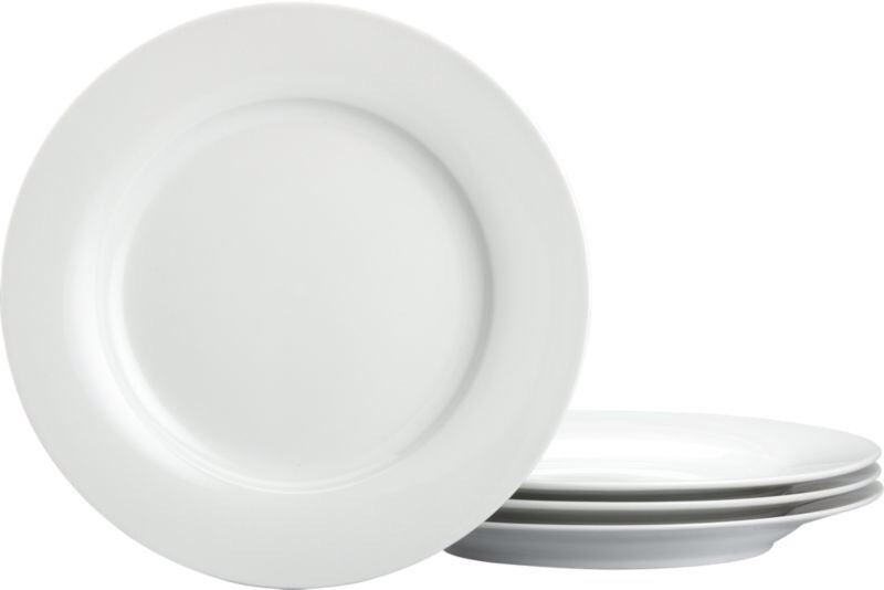 Layer your plates with foam disposable plates so they don't rub against eachother and break