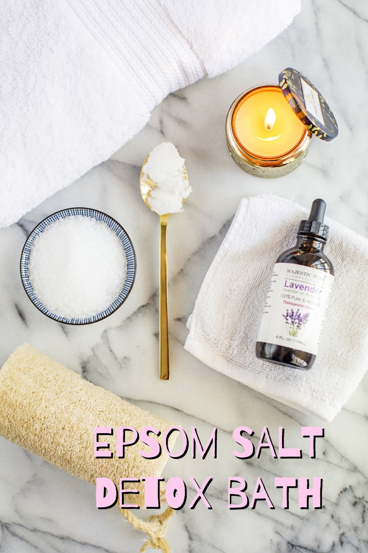 The link on Brit + Co's list for an Epsom Salt Detox Bath did not work, so I found this one, which is the same thing. HERE | http://rootandrevel.com/diy-epsom-salt-detox-bath/