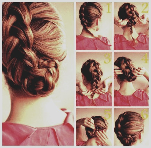 First you need French braid your hair. After you do that, you need to loosen it up a little by pulling apart the sides all the way down to the end. Take the end of the tail and rich it underneath your braid and bobby pin it to keep it off of your neck and to look cute!