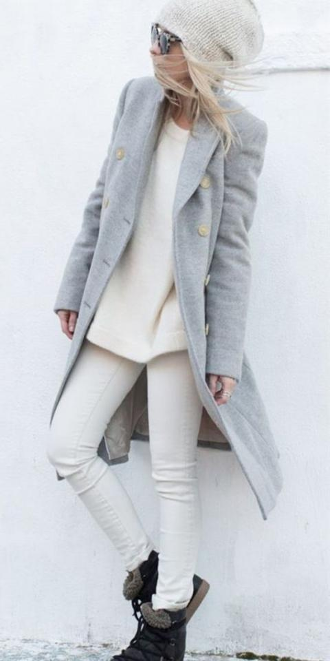 25. Gray & Cream Nice Combination