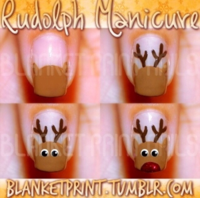 Rudolph nails Perfect for the holidays !