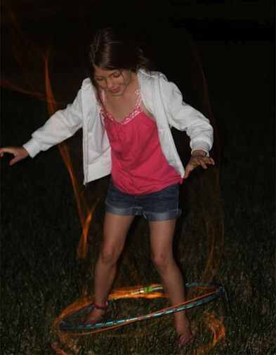 Glow stick hula hoop