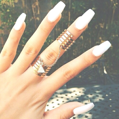 *use clear nail Polish and chopped garlic  *mix together  *use daily  = fast growing, strong and long nails