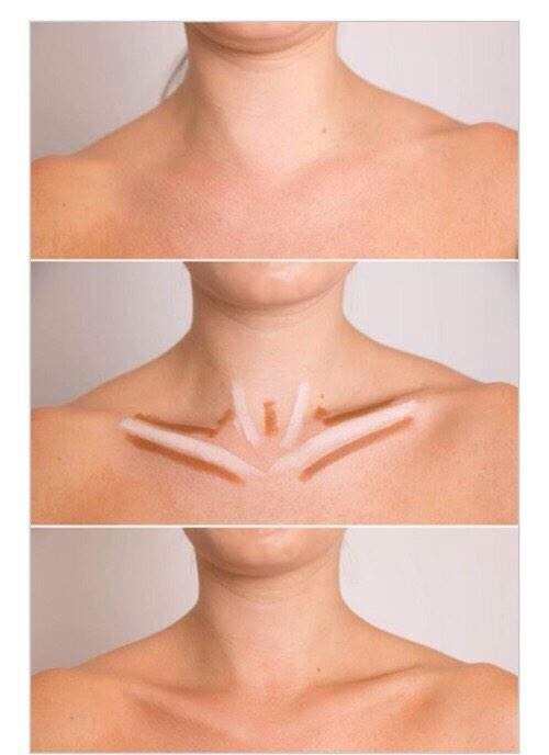 Contouring your neck helps to add that sexy finish to your makeup