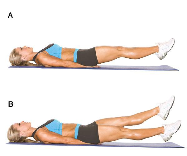 Scissor Leg Planks: This will certainly force your arms, chest, core, glutes and internal upper legs to engage to support this step.