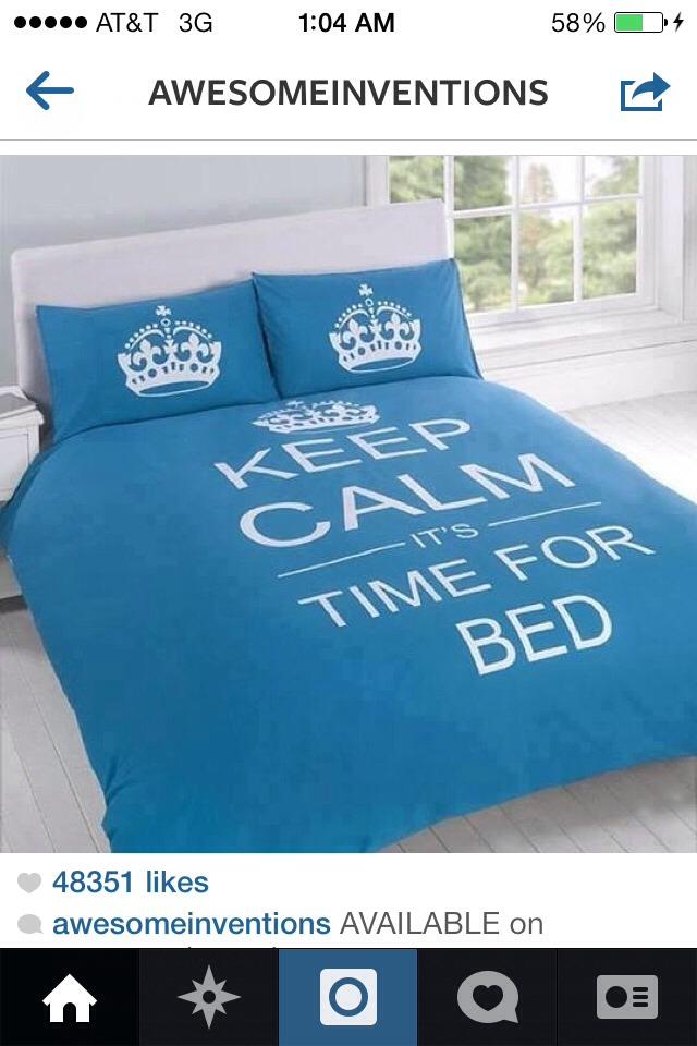 Cute keep calm bedding
