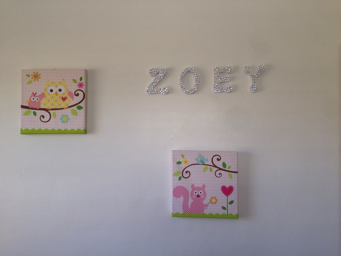 My daughters name in the wall. When the light hits it, it's beautiful!