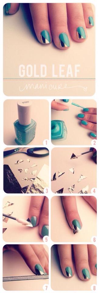 Two or three hues unite to make the nails gleam!