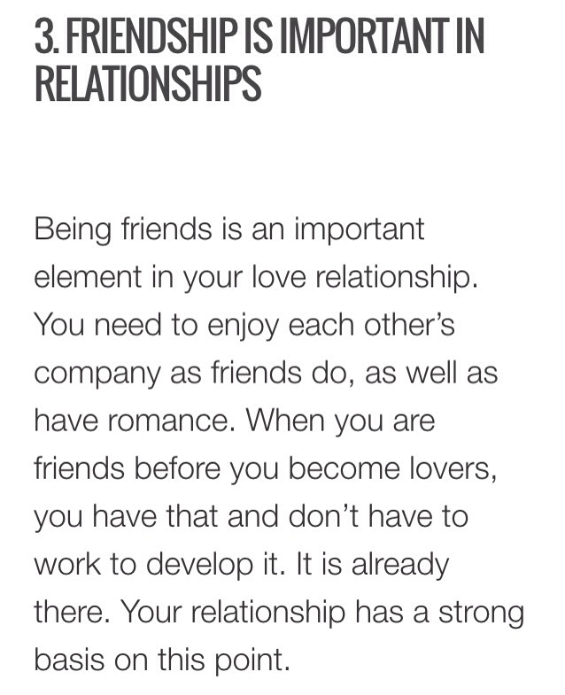 being friends before a relationship