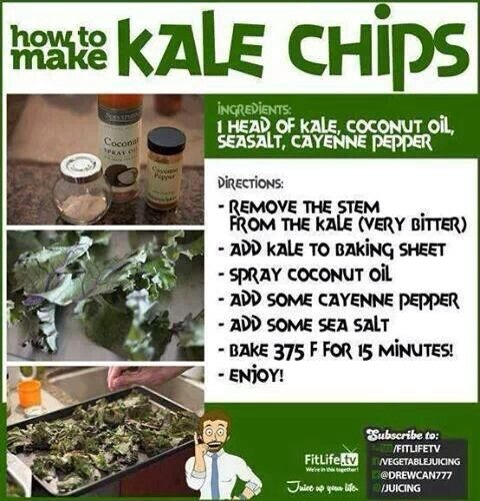 Kale is very very healthy for you. Its hard for me to eat but when I make these  chips they are do good that they melt in you mouth