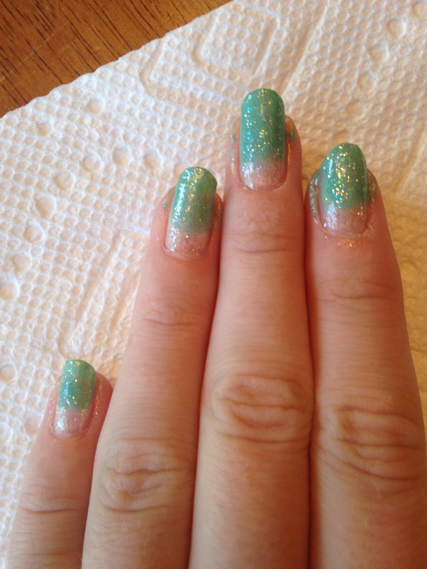 Add another layer of the white sparkly