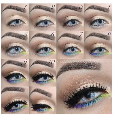 Quirky summer eye look tutorial!!