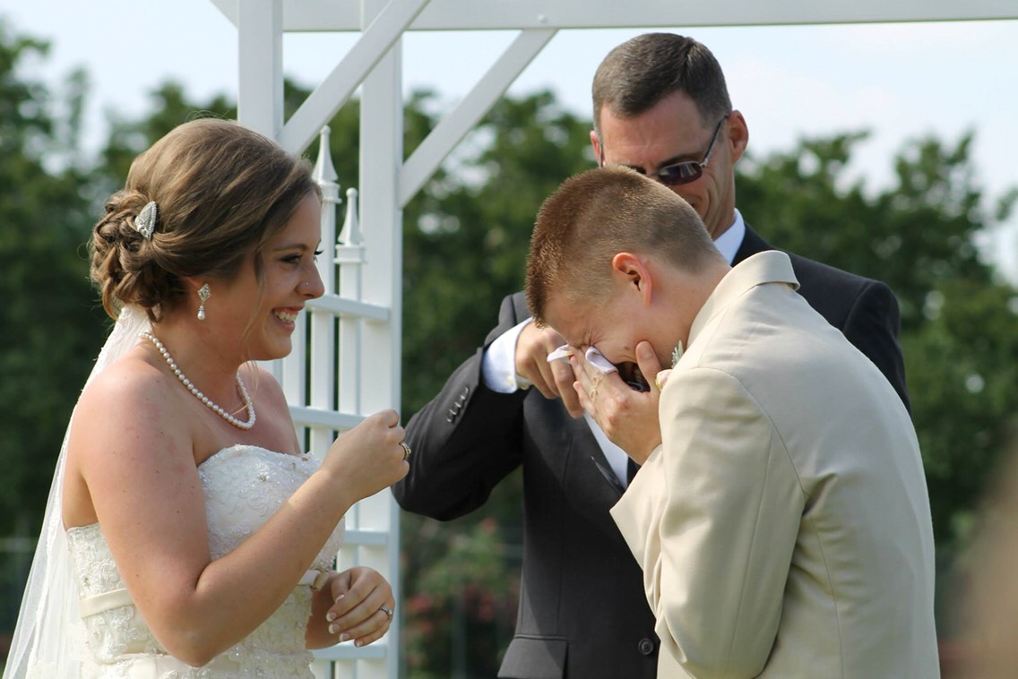 Groom moved to tears by his Brides vows.