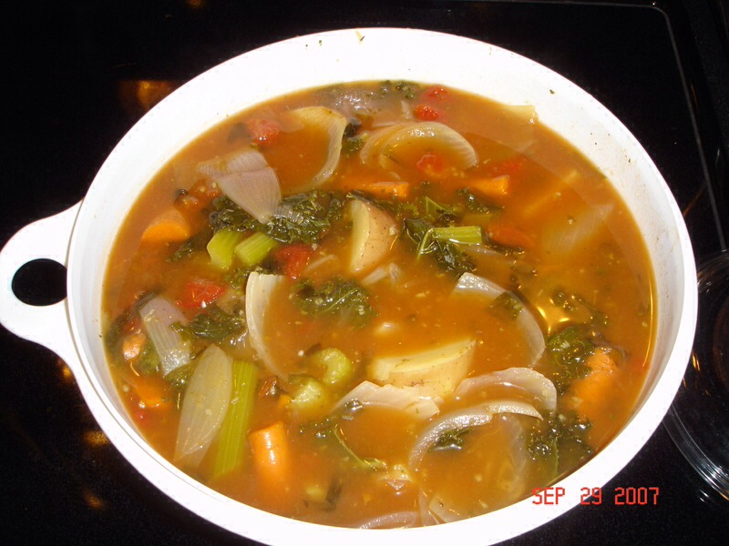 Try for: At least one cup of low-calorie, low-sodium vegetable soup every day.